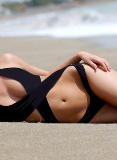 Black Swimsuit - Sexy Crossover Monokini | UsTrendy