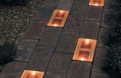 solar-powered LED brick front yard elements