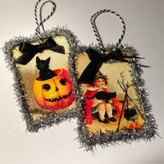 Halloween Ornaments on The Paper Toile Blog created with Crafty Secrets Halloween Digital Kit Download.  These images are also on the Halloween CD.