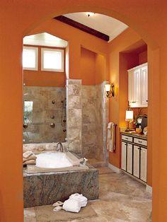 shower tub coffee bar