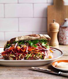 The ultimate salad sandwich. #lunch #sandwich #healthy #boursin