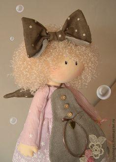 Кукла текстильная Lola ПРОДАНА - бледно-розовый,кукла,кукла ручной работы