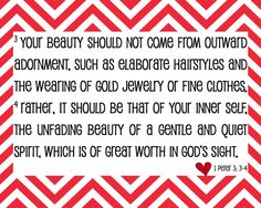 True Beauty Bible Verse  1 Peter 3:3