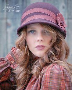 Rustic Cloche Hat perfect fall fashion accessory! #hat #cloche #fall #fashion