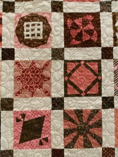 """""""Birthday Jane"""" by Kerry Marksbury, San Diego, CA.  """"My journey with Jane started in April 2011 with 25 of the blocks given to me by quilting friends for my 50th birthday.  In April 2011, I met Brenda and attended her class at Asilomar.  It was completed in March 2013, in time for a third trip to Brenda's class."""""""