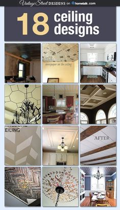Ceilings tend to be ignored when doing home upgrades, but they really can make a difference! I am gushing over the tin design :)