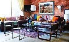 Baja California meets midcentury // Brent Bolthouse's Living Room