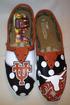 University of Texas hand painted Toms on Etsy, $120.00