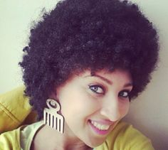 natur hairstyl, short natur, earring