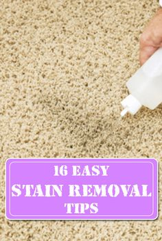 16 easy stain removal tips