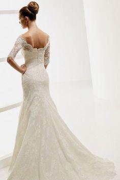 wedding dressses, idea, lace wedding dresses, mermaid wedding dresses, vintage lace, dream, weddings, gown, sleeves