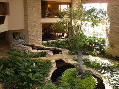 Indoor Pond On Pinterest Koi Ponds Fish Ponds And Indoor Waterfall