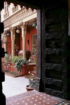 Pol House Doorway, Ahmedabad, Gujarat state, India