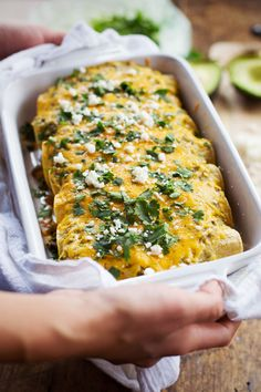Butternut Squash and Mushroom Enchiladas with Tomatillo Sauce