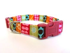 Flower and Polka Dot Collar by TheStevieStudio on Etsy, $14.00