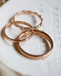 Bands of rose gold