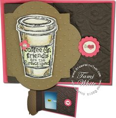 Stampin Up Starbucks gift card holder using the Perfect Blend stamp set. video on the blog #stampinup
