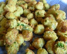This recipe for Southern Fried Okra is a real keeper. Once a year, I fry up a batch and it's good to the last little morsel. Even those who don't like okra for the slimy texture if you don't boil it correctly, go balistic over this. Try it sometime, you'll be glad you did.