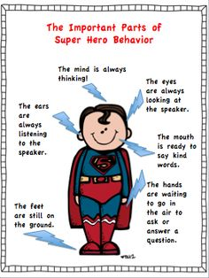 What Does Super Hero Behavior Look Like? Day 4 Freebie!