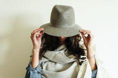 Gray Wool Felt Hat by Janessa Leone – Spartan journal, hats, kitchen gifts, fashion, grey janessa, cloth, gray wool, felt hat, janessa leon
