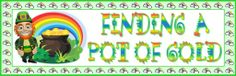 """Students will enjoy writing a story about """"Finding a Pot of Gold.""""  This 5 page St. Patrick's Day bulletin board display banner comes with a matching student creative writing worksheet."""