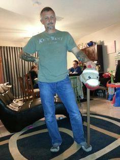 Joe. With a Sock Monkey head on a stick.