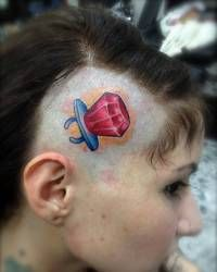 Tattoos ring pop. Just maybe not on my head