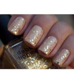 nude nails, nail polish, holiday nails, gold nails, nail colors, glitter nails, sparkle nails, new years, sparkly nails