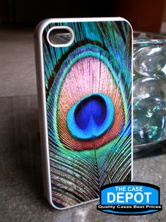 Baby Sister? Christmas?    Peacock Feather Iphone 4 Hard Case, Iphone 4s Case, Iphone Case. $9.99, via Etsy.