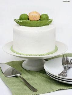 Cutest little pea pod cake!
