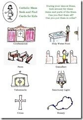 Catholic Mass Cards - Free printables to keep kids quiet in mass! catholic-awesomeness