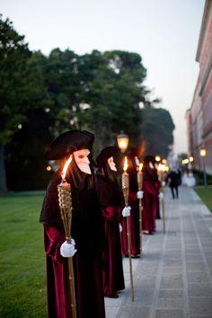 Masked Venetian ushers