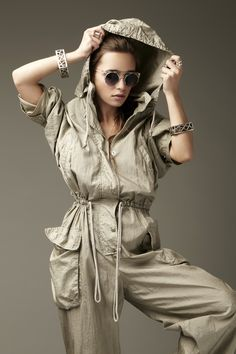 Vintage Donna Karan Aviator Jumpsuit - #fashion makes its way back, every time. #trends #vintage #retro #chic #style #womenswear