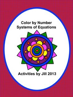 Make solving systems of equations more fun with this color by number! Twelve systems of equations are incorporated into this activity. They may be solved using either the elimination or substitution method. Answer key included CCSS A-REI