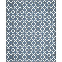 Safavieh Handmade Moroccan Cambridge Navy Wool Rug (8' x 10')