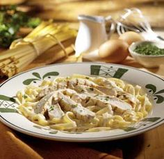 Olive Garden® Chicken Alfredo it is so delicious i will get that anytime i go there.  Just had some last night!