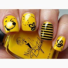 Amazing Winnie the Pooh nails!