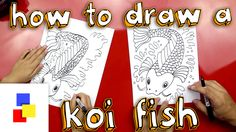 How to draw a koi fish, fun art project for kids!