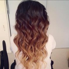 2013 Hair Trends   Ombre Waves  #brunette #golden #blonde #beach #curls #summer #hairstyles #pmtswichita #paul #mitchell #schools