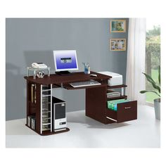 $183 - Have to have it. Techni Mobili Multifunction Computer Desk with Filing Drawer $182.99