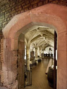 In the basement of the 1930s Ministry of Defence building on Horse Guards Avenue is Cardinal Wolsey's wine cellar, later also used by Henry VIII http://www.ediblegeography.com/the-last-places/