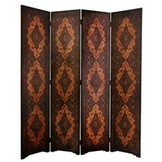 6 ft. Tall Olde-Worlde Classical Room Divider Decorative Folding Screen
