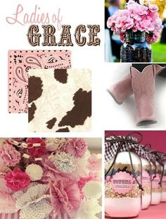 pink cowgirl party inspiration