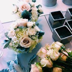 DIY sweet table arrangements