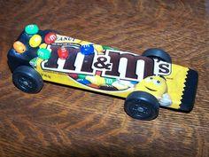 Pinewood Derby car ~ M's.  did candy last year