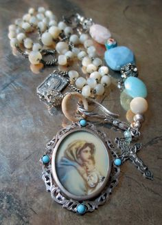 vintage assemblage necklace  UNCONDITIONAL LOVE by TheFrenchCircus, $224.00