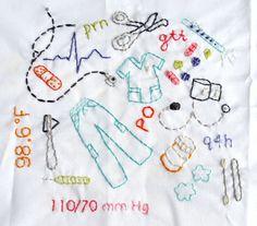 nursing embroidery #nurse