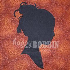 Free Applique Patterns Download | Steampunk Cameo Applique Pattern : Happy Bobbin, applique, quilting ...