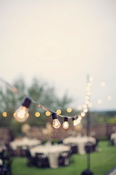 Strings of cafe lights