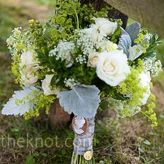 white flowers, the knot, bridal bouquets, bridesmaid flowers, white roses